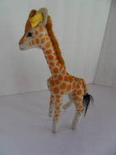 Steiff giraffe button flag stuffed animal Germany 2483
