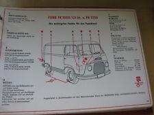 Shell Schmierplan / Wartungsdienst    -  Ford FK 1000 1.5 ltr. und FK 1250
