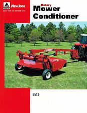 NEW IDEA 5512 ROTARY MOWER CONDITIONER  SPECIFICATIONS and SALES BROCHURE