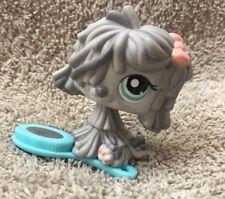 Littlest Pet Shop #1458 Rare Gray Grey Komondor Mop Sheep Dog Blue Eyes Lps Usa