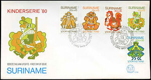 Suriname 1980 Child welfare FDC First Day Cover #C30216