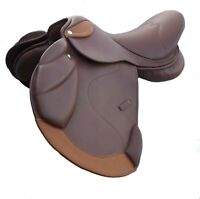 """New Genuine Leather English jumping Event Leather Saddles 18"""""""