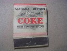 1930's Hudson Valley Fuel Corp Niagara-Hudson Coke Troy NY Full Matchbook