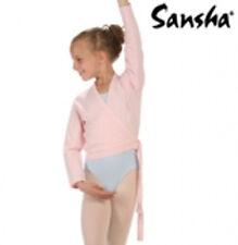 "BALLETT WICKELJACKE ""Candy"" Sansha Baumwolle 4 Jahre = 104/110 rosa"