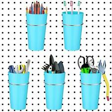 5 Pack Pegboard Bin Kit Hooks With Storage Bins Jars Cups Holder Organizer For