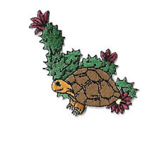 Turtle - Southwest - Cactus - Desert - Embroidered Iron On Applique Patch