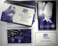 2002 STATE QUARTERS 5-COIN CLAD PROOF SETS ~ GROUP OF 4 SETS ~ 20 TOTAL COINS!