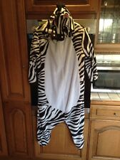 Zebra Soft Fleece One Piece Hood Double Opening Zip From Back To Front Size125