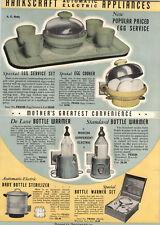 1939 PAPER AD Hankscraft Electric Egg Service Set Deluxe Cooker Boiler COLOR