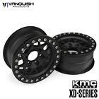 Vanquish 07710 KMC XD127 Bully 1.9 Beadlock Crawler Wheels (Black/Black) (2)