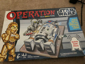STAR WARS Edition Realistic Sound Effects Operation Game COMPLETE (COLLECTABLE)