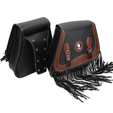 Universal Motorcycle Saddlebags Pannier Leather Pouch Bag Saddle Bags for Harley