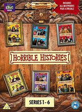 Horrible Histories – Complete Series 1-6 DVD British Comedy History Family