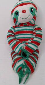 "Build a Bear Peppermint Twist Sloth Plush 18"" Holiday Christmas Stuffed Toy BABW"