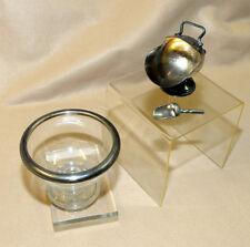 * Vaso porta dolcetti in cristallo + piccola zuccheriera in metallo *
