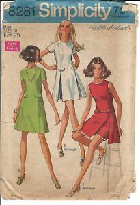 Vintage 60s Simplicity 8281 Pattern Misses SZ 10 Complete