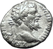 SEPTIMIUS SEVERUS 196AD Rome Authentic Ancient Silver Roman Coin GENIUS i60414