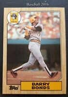 Barry Bonds Topps 1987 MLB Trading Card #320 Pittsburgh Pirates