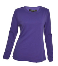 Central Park West Women's Pull Over Long Sleeve Shirt Top Purple Sz S