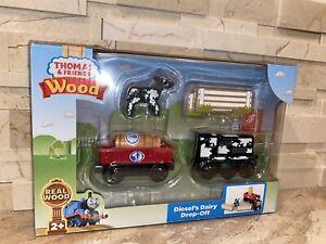 DIESEL'S DAIRY DROP OFF Thomas & Friends WOODEN Railway BRAND NEW
