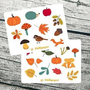 Autumn Planner Stickers / Fall planner sticker / October planner