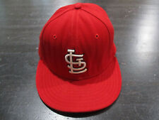 New Era St Louis Cardinals Hat Cap Red White Fitted Size 7 1/2  Baseball Mens *