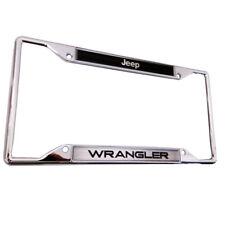 JEEP WRANGLER LICENSED 3D Logo Raised Letters Zinc Chrome License Plate Frame