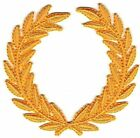 """3"""" SCA All Yellow Olive Laurel Wreath Embroidery Patch"""
