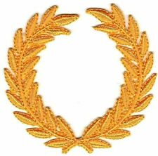 "3"" SCA All Yellow Olive Laurel Wreath Embroidery Patch"