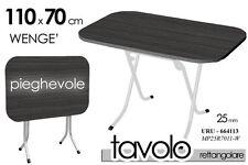 TAVOLO RETTANGOLARE PIEGHEVOLE PIANO WENGE' NERO STRUTTURA URU-664113