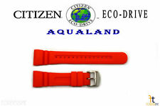 Citizen Eco-Drive JV0030-19F Original 26mm Orange Rubber Watch Band JV0020-21F