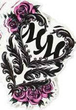 20  WATER SLIDE NAIL ART  DECAL TRANSFERS Metal Mulisha   Pink / Black w roses