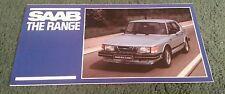 Oct 1982 1983 SAAB UK RANGE inc 900 CD APC TURBO / SE / 99 SMALL FOLDER BROCHURE
