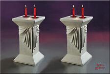 2 x Lampe Säule Stehlampe Blumensäule Dekosäule Medusa Mäander Säulen mit Licht