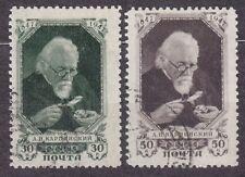 RUSSIA SU 1947 USED SC#1087/88 Karpinsky (1847-1936), geologist.