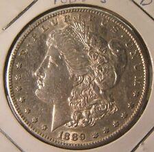1889-S~~MORGAN SILVER DOLLAR~~AU-BU~~BEAUTY~~RARE