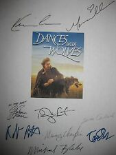 Dances With Wolves Signed Film Script X9 Kevin Costner Mary McDonnell Greene rpt
