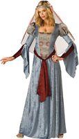 MUJER AZUL LARGO medieval Lady Marian Renacimiento Disfraz
