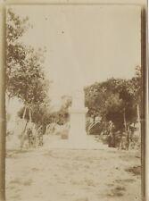 Monument Photographie Originale Vintage Citrate ca 1900 ND13