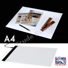 A4 LED pochoir panneau boîte à lumière mince art Draw Tracing plaque de copie
