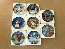 Set of 8 Knowles Disney's Treasured Moments Collector Plates Boxes& Certificates