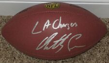 """ANTHONY LYNN Autographed Wilson Premier NFL Football w/""""L.A. CHARGERS"""""""