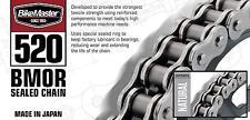 BIKEMASTER BMOR SERIES 520 120 Link O-RING CHAIN Natural Color 520BMOR-120