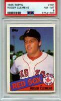 1985 TOPPS ROGER CLEMENS RC #181 PSA 8 NM-MT-FRESHLY GRADED! BOSTON RED SOX