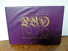 More details for british commemorative coin set 1970 the last duo decimal issues mint