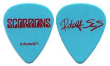 SCORPIONS Guitar Pick : 2014 Tour Rudolf Schenker Blue