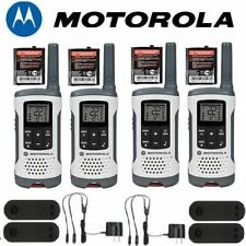 Motorola Talkabout T260 Walkie Talkie 4 Pack 25 Mile Range 2 way NOAA Radio
