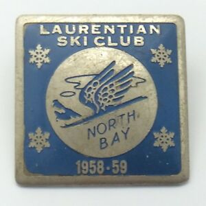 Laurentian Ski Club Ski Hill North Bay Ontario 1958-59 Blue Pin G102