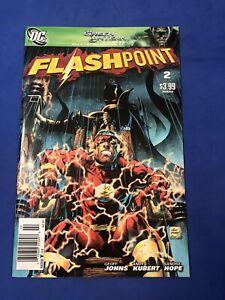 FLASHPOINT #2 Thomas Wayne Batman Cover HTF Newsstand Variant DC Comic 2011 NM+