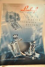 Linhof Master Technika System 9x12/4x5 brochure, Original, c1999, NOT a Copy!